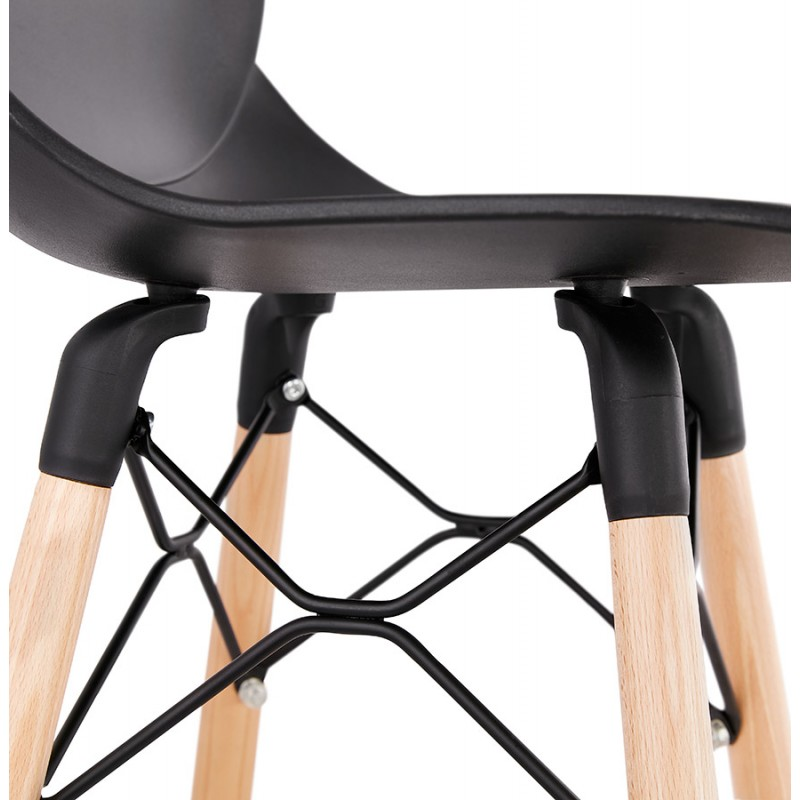 PACO Scandinavian design bar stool (black) - image 46935