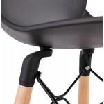 PACO Scandinavian design bar stool (black)