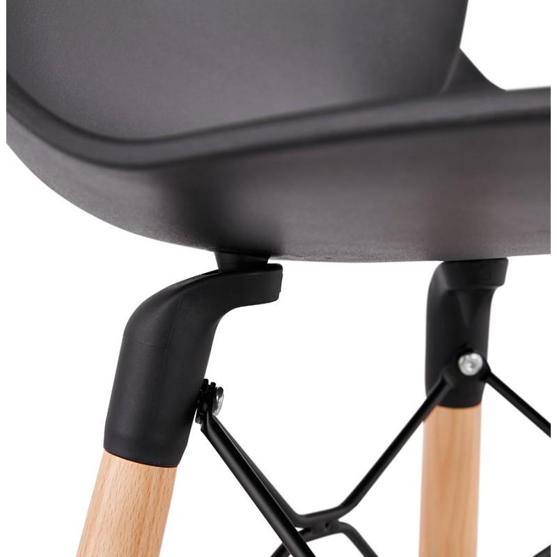 Taburete de barra de diseño escandinavo PACO (negro) - image 46936