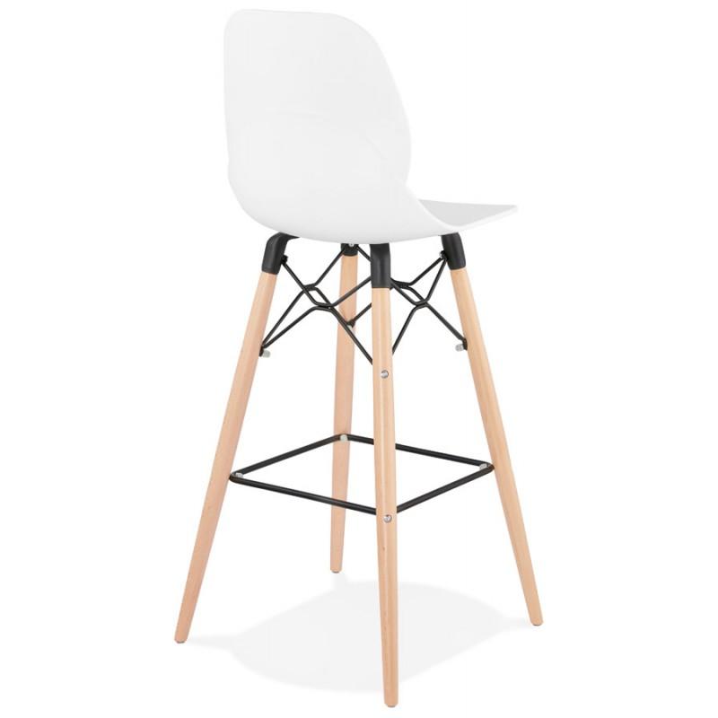 PACO Scandinavian design bar stool (white) - image 46945