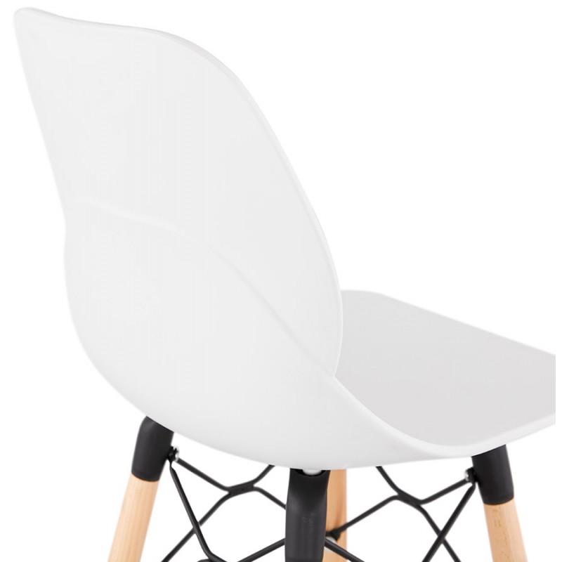 Tabouret de bar design scandinave PACO (blanc) - image 46948