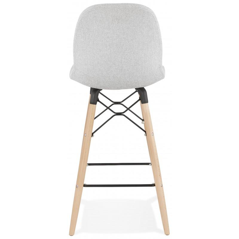 Tabouret de bar chaise de bar mi-hauteur scandinave en tissu PAOLO MINI (gris clair) - image 46961
