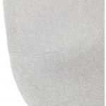 Silla de barra de bar de bar Escandinavo tejido de altura media PAOLO MINI (gris claro)