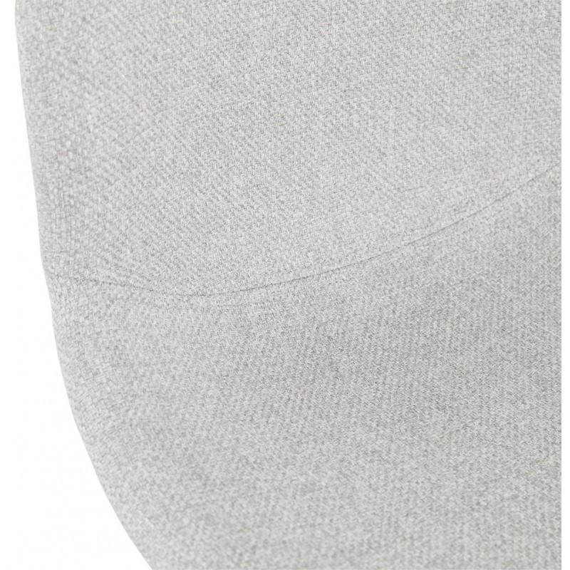 Tabouret de bar chaise de bar mi-hauteur scandinave en tissu PAOLO MINI (gris clair) - image 46969