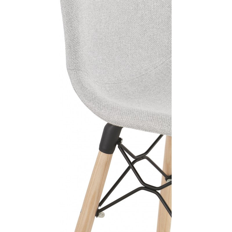 Silla de barra de bar de bar Escandinavo tejido de altura media PAOLO MINI (gris claro) - image 46970