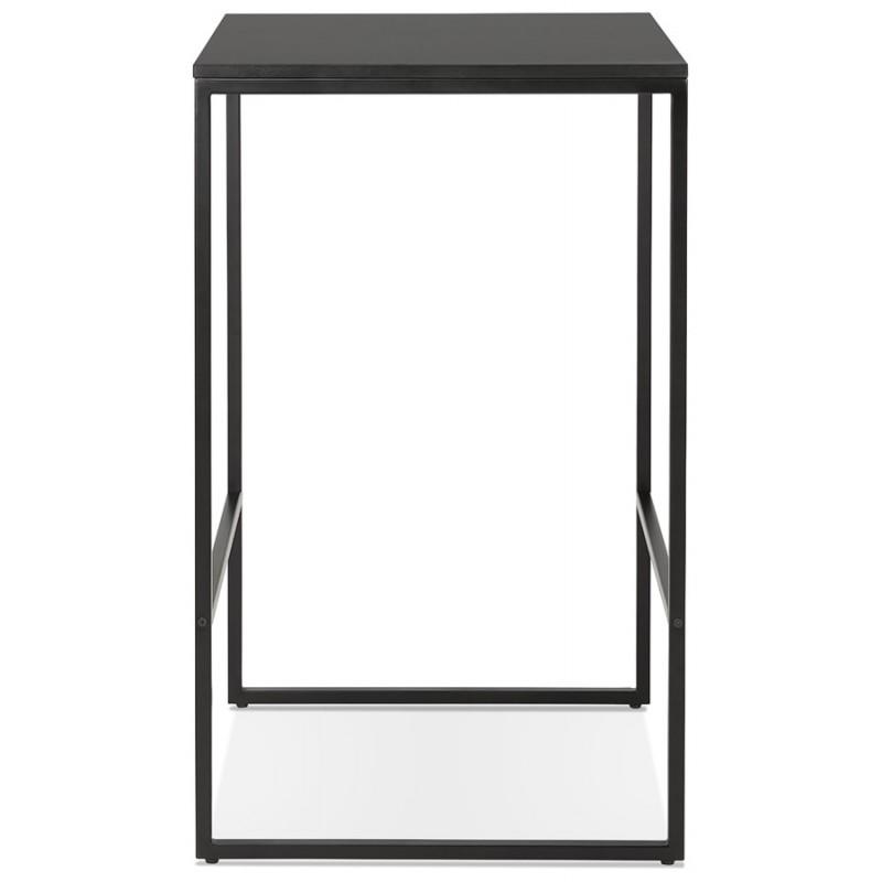 Table haute mange-debout design en bois pieds métal noir HUGO - image 47006