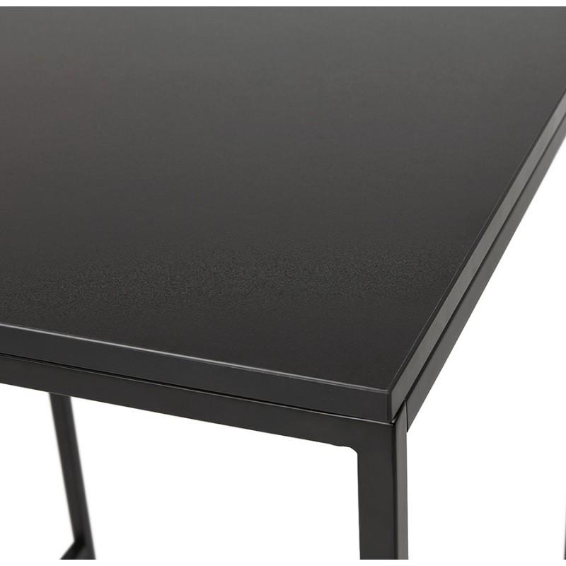 Table haute mange-debout design en bois pieds métal noir HUGO - image 47008