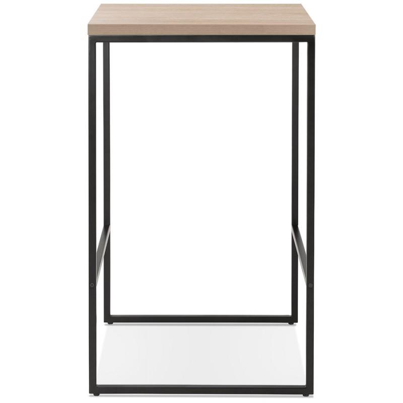 Table haute mange-debout design en bois pieds métal noir LUCAS (finition naturelle) - image 47016