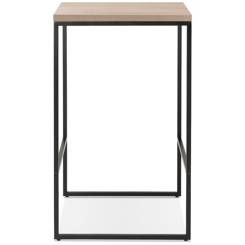 Hoher Tisch essen-up Holz design schwarz Metall Füße LUCAS (natürliche Oberfläche) - image 47016