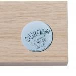 Table haute mange-debout design en bois pieds métal noir LUCAS (finition naturelle)