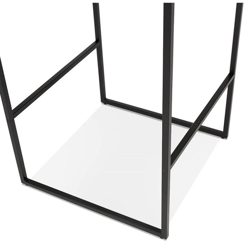 Table haute mange-debout design en bois pieds métal noir LUCAS (finition naturelle) - image 47022