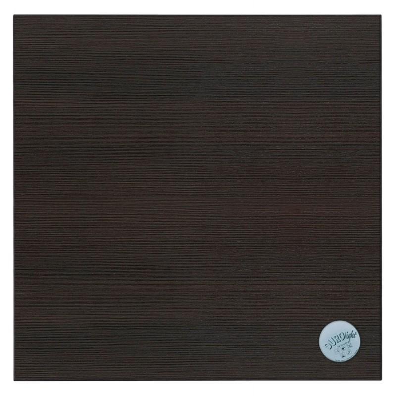Table haute mange-debout design en bois pieds métal noir LUCAS (wengé) - image 47028
