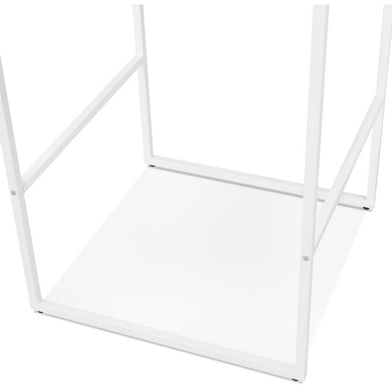 Table haute mange-debout design en bois pieds métal blanc HUGO (noir) - image 47050