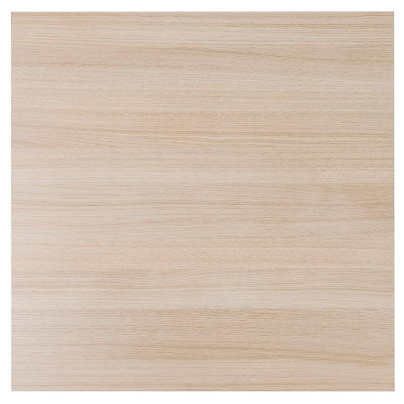 Table haute mange-debout design en bois pieds métal blanc LUCAS (finition naturelle) - image 47056