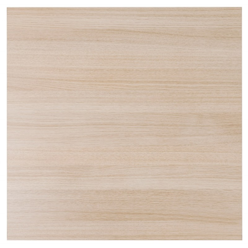 Hoher Tisch essen-up Holz design weiß Metall Fuß LUCAS (natürliche Oberfläche) - image 47056