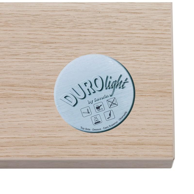 Table haute mange-debout design en bois pieds métal blanc LUCAS (finition naturelle) - image 47057