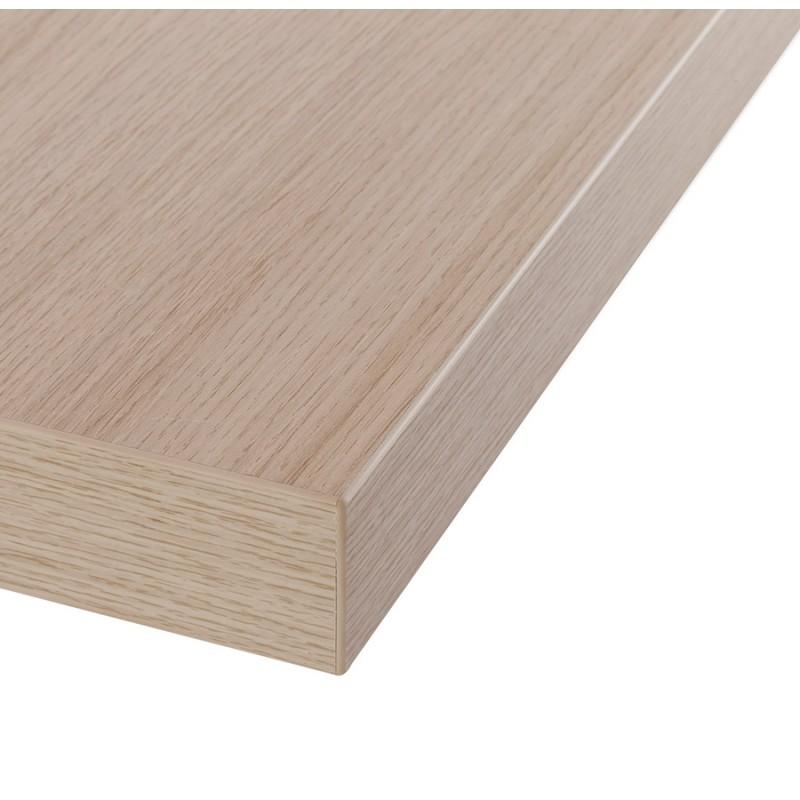 Table haute mange-debout design en bois pieds métal blanc LUCAS (finition naturelle) - image 47059