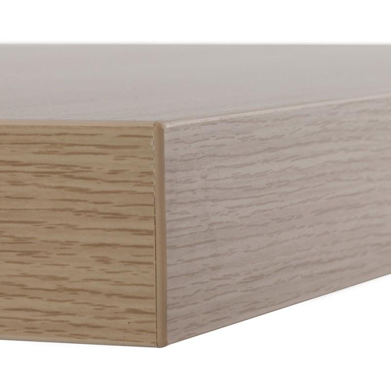 Table haute mange-debout design en bois pieds métal blanc LUCAS (finition naturelle) - image 47060