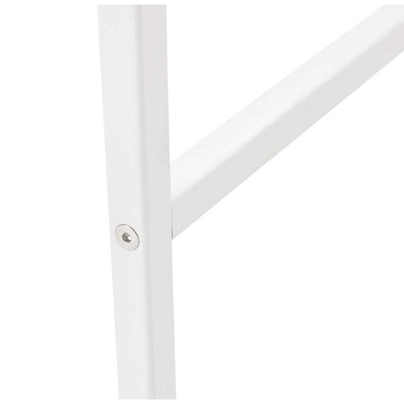 Table haute mange-debout design en bois pieds métal blanc LUCAS (finition naturelle) - image 47062