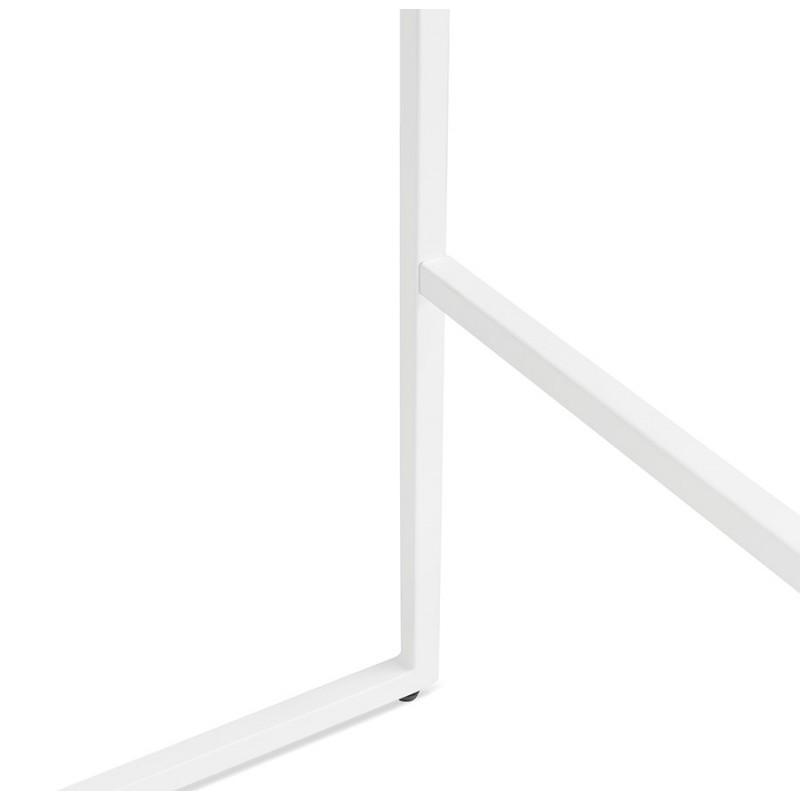 Table haute mange-debout design en bois pieds métal blanc LUCAS (wengé) - image 47072
