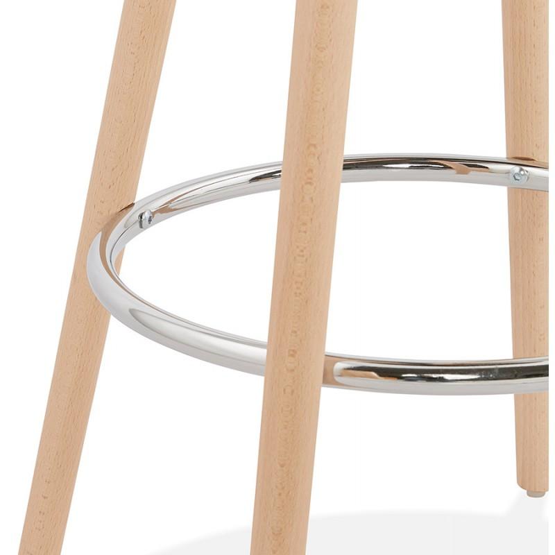 Table haute mange-debout design en bois pieds bois couleur naturelle CHLOE (noir) - image 47081