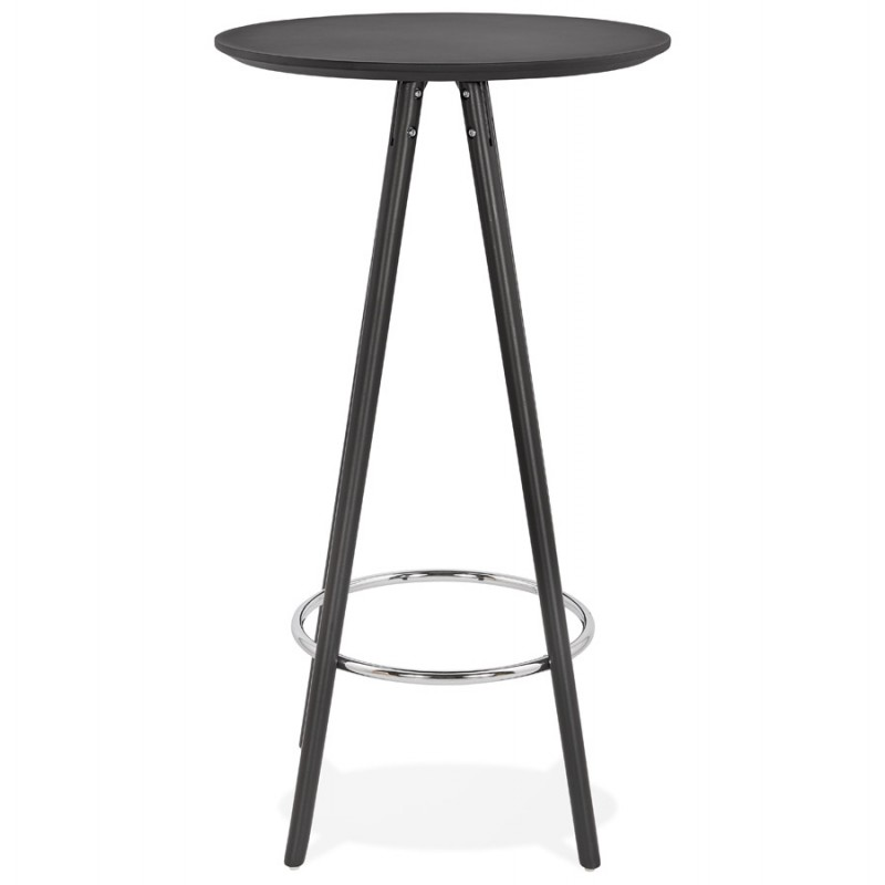 Hoher Tisch isst aufholzt Holzdesign Holzfüße CHLOE (schwarz) - image 47084