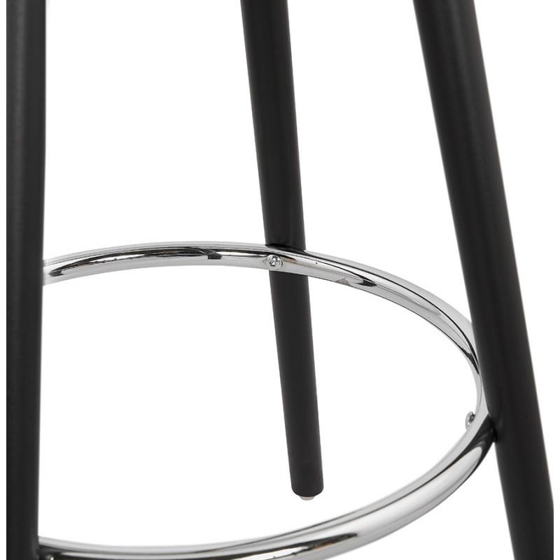 Table haute mange-debout design en bois pieds bois CHLOE (noir) - image 47088