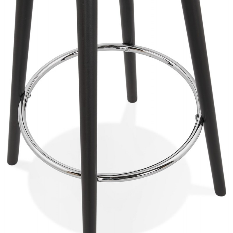 Table haute mange-debout design en bois pieds bois noir CHLOE (blanc) - image 47099