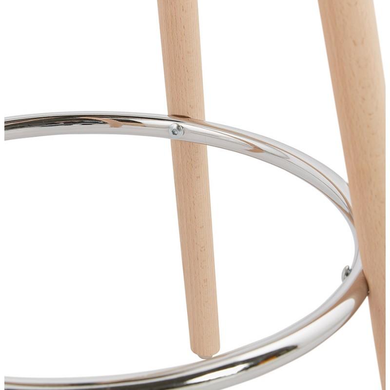 Table haute mange-debout design en bois pieds bois couleur naturelle CHLOE (blanc) - image 47107