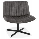 PALOMA swivel vintage chair (dark grey)