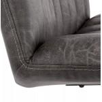 PALOMA Dreh vintage Stuhl (dunkelgrau)
