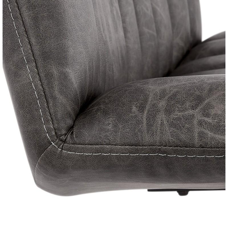 Fauteuil vintage pivotant PALOMA (gris foncé) - image 47273