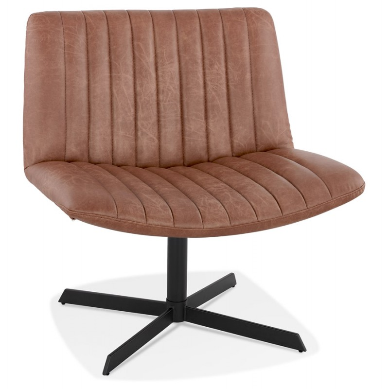 PALOMA swivel vintage chair (brown)