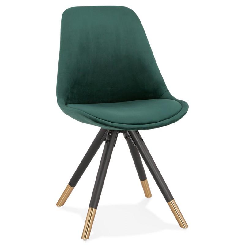 SUZON Vintage und retro schwarz und gold Stuhl (grün)