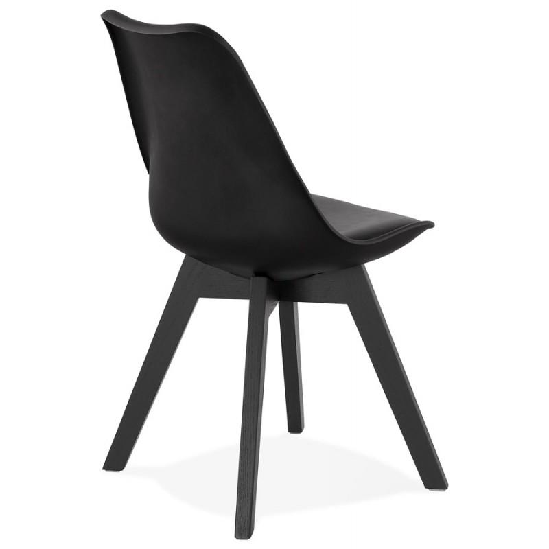 Chaise design pieds bois noir MAILLY (noir) - image 47527