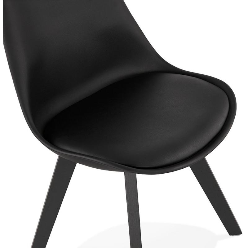 Chaise design pieds bois noir MAILLY (noir) - image 47529