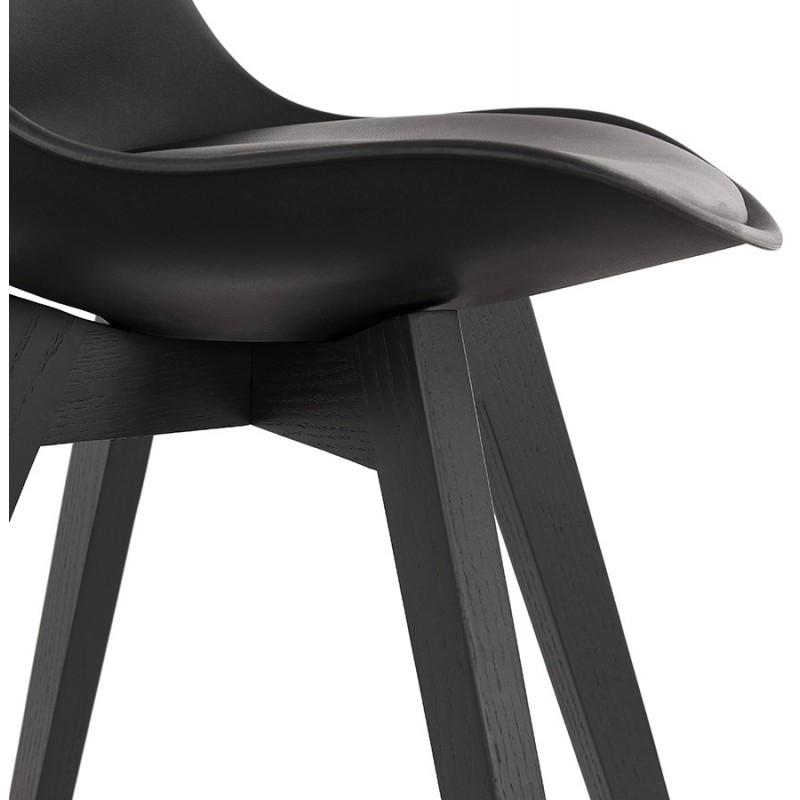 Chaise design pieds bois noir MAILLY (noir) - image 47531