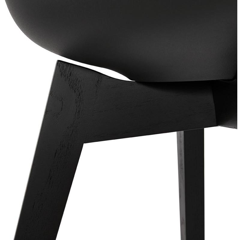 Chaise design pieds bois noir MAILLY (noir) - image 47532