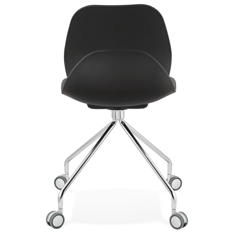 MarianA Chrom Metall Fuß Schreibtisch Stuhl (schwarz) - image 47571