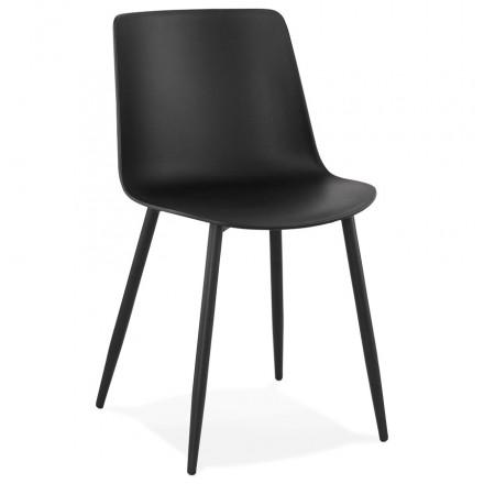 Chaise design et contemporaine MANDY (noir)