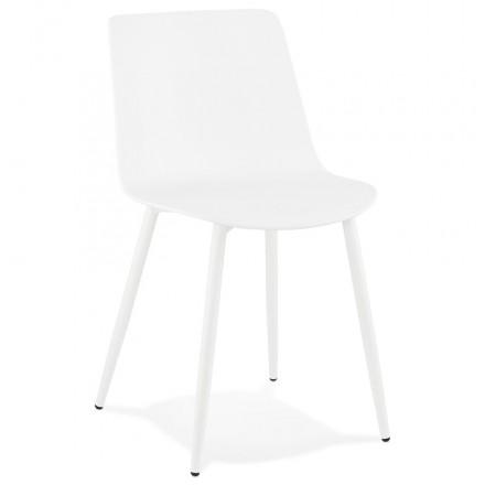 Chaise design et contemporaine MANDY (blanc)