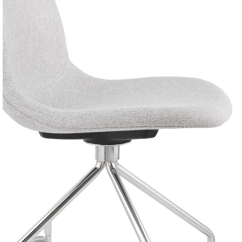 Chaise de bureau sur roulettes en tissu MARYA (gris clair) - image 47639