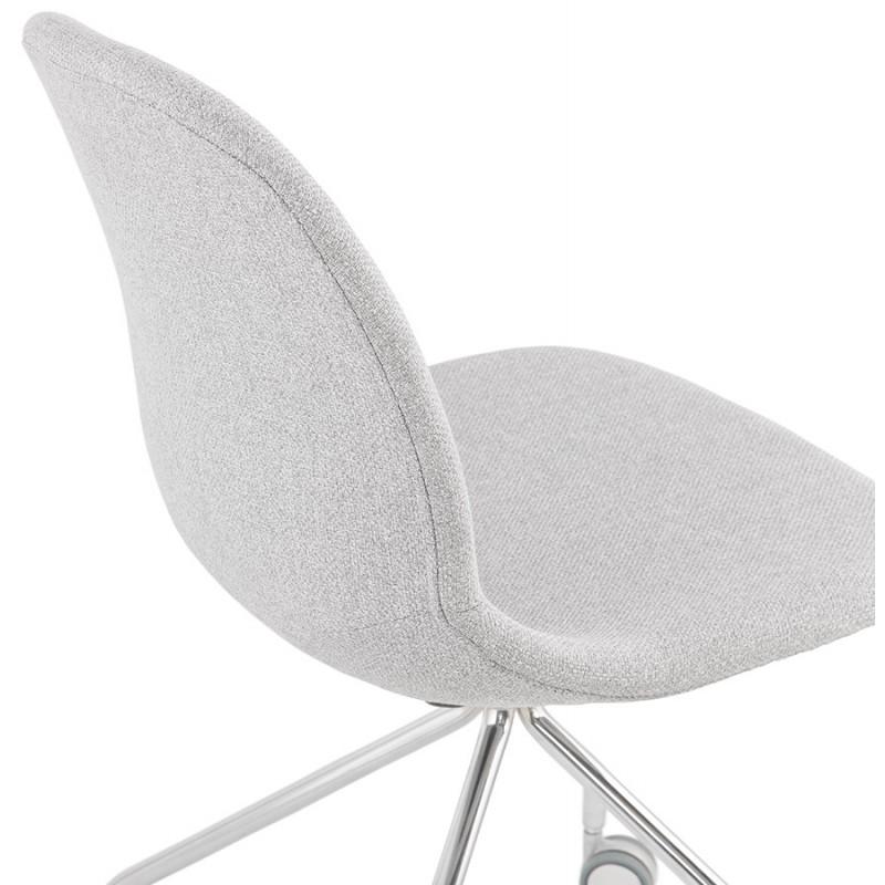 Chaise de bureau sur roulettes en tissu MARYA (gris clair) - image 47640