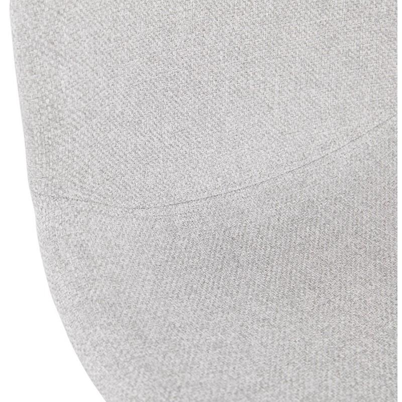 Chaise design industrielle en tissu pieds métal noir MOUNA (gris clair) - image 47687