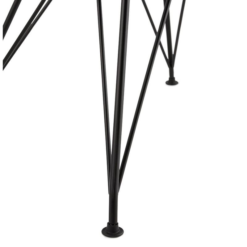 Chaise design industrielle en tissu pieds métal noir MOUNA (gris clair) - image 47690