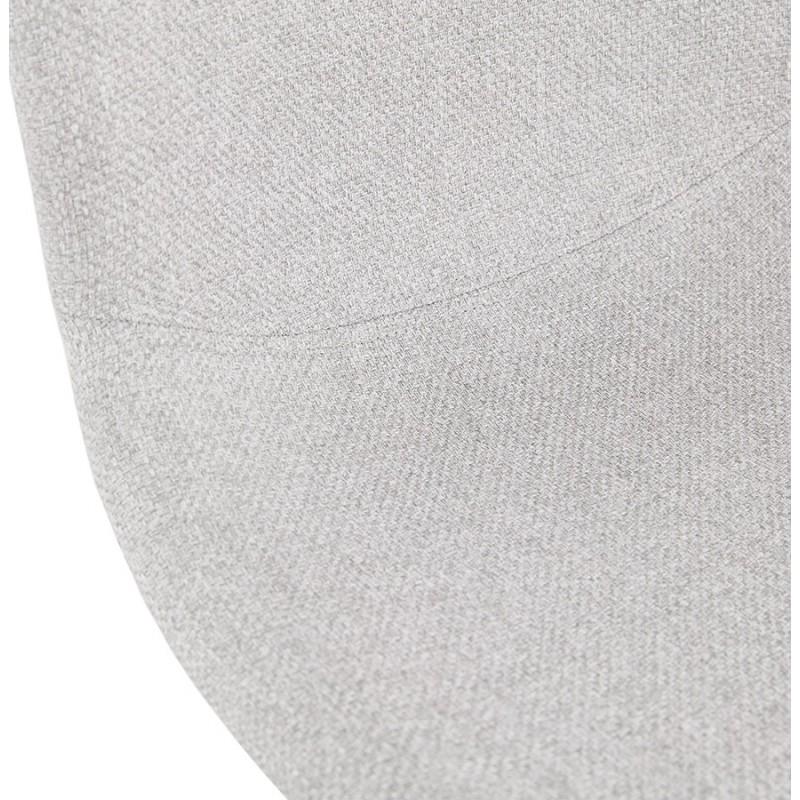 Chaise design empilable en tissu pieds métal blanc MANOU (gris clair) - image 47701