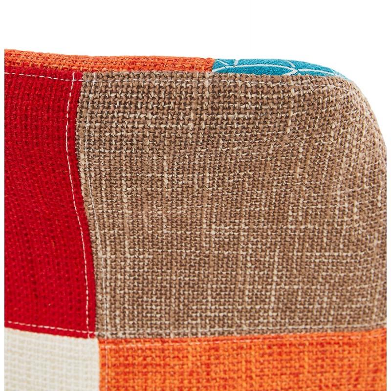 Chaise bohème patchwork en tissu pieds bois finition naturelle MANAO (multicolore) - image 47735