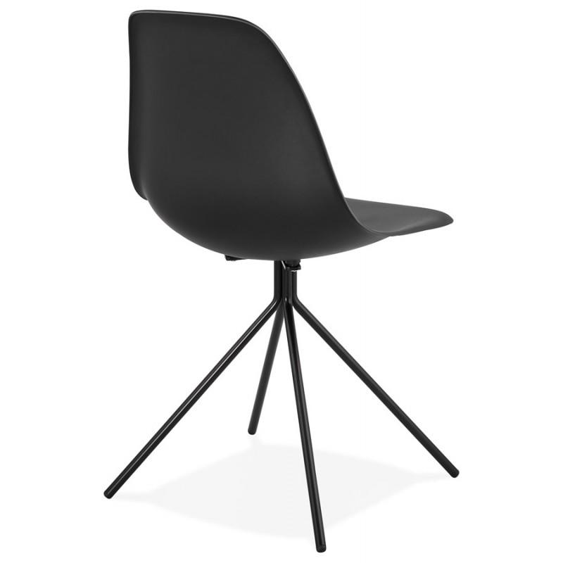 Chaise design industrielle pieds métal noir MELISSA (noir) - image 47761