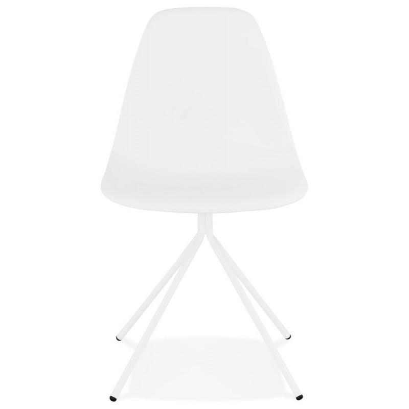 Industrial design chair feet white metal MELISSA (white) - image 47770