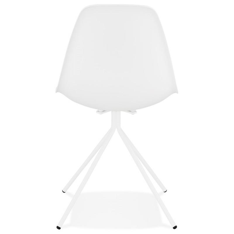 Chaise design industrielle pieds métal blanc MELISSA (blanc) - image 47776